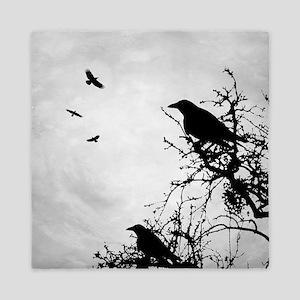 Design 43 crow silhouette Queen Duvet