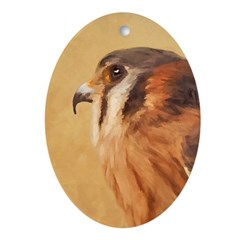 American Kestrel Oval Ornament