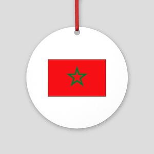 Moroccan Flag Ornament (Round)