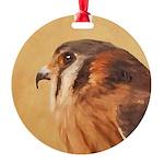 American Kestrel Round Ornament