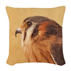 American Kestrel Woven Throw Pillow