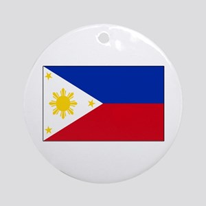 Philippines Flag Ornament (Round)