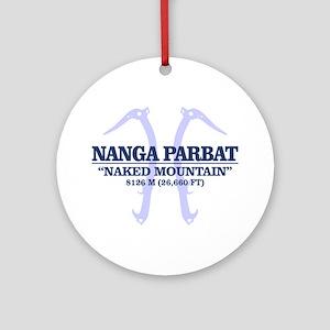 Nanga Parbat (axes) Round Ornament