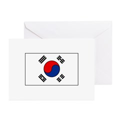 South Korean Flag Greeting Cards (Pk of 10)