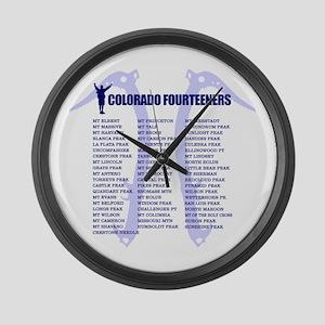 Colorado Fourteeners Large Wall Clock