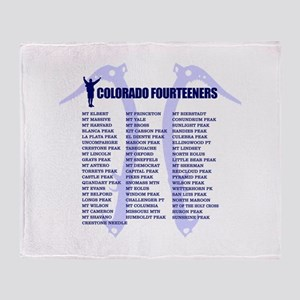 Colorado Fourteeners Throw Blanket