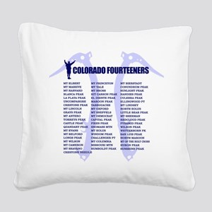 Colorado Fourteeners Square Canvas Pillow