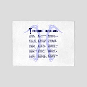 Colorado Fourteeners 5'x7'Area Rug