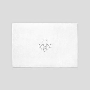 Fleur-de-lis 4' x 6' Rug
