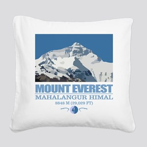 Mount Everest Square Canvas Pillow
