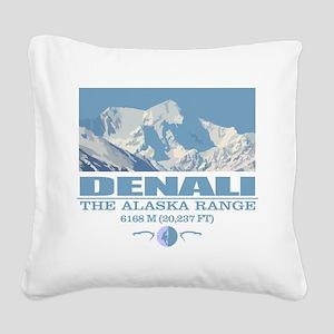 Denali Square Canvas Pillow