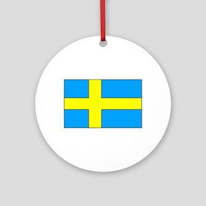 Swedish Flag Ornament (Round)