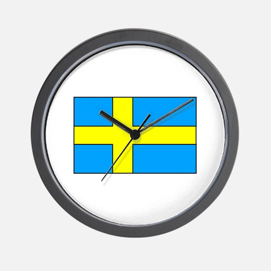 Swedish Flag Wall Clock