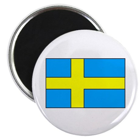 "Swedish Flag 2.25"" Magnet (10 pack)"