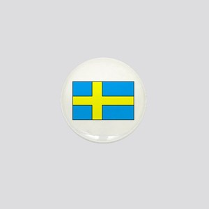 Swedish Flag Mini Button