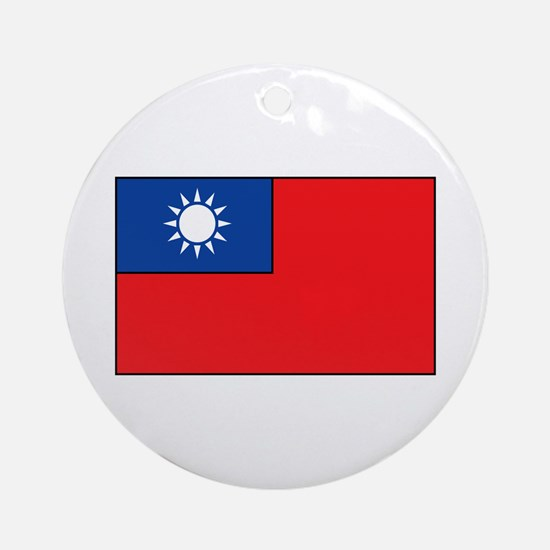 Taiwanese Flag Ornament (Round)