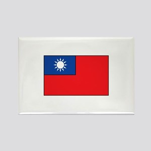 Taiwanese Flag Rectangle Magnet