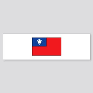 Taiwanese Flag Bumper Sticker