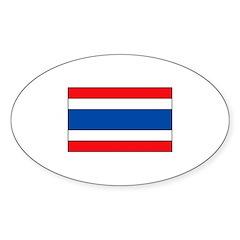 Thai Flag Oval Decal