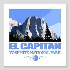 """El Capitan Square Car Magnet 3"""" x 3"""""""