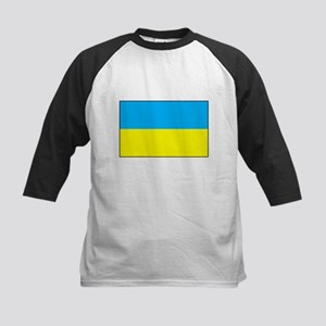 Ukranian Flag Kids Baseball Jersey