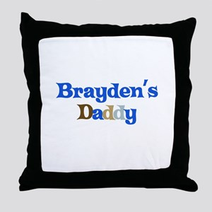 Brayden's Daddy Throw Pillow