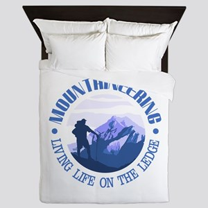 Mountaineering (Life On The Ledge) Queen Duvet