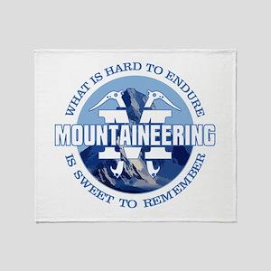 Mountaineering Throw Blanket