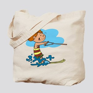 Child Water Skiing Tote Bag