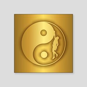 Zen Climber (gold) Sticker