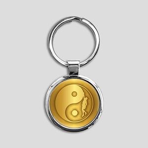 Zen Climber (gold) Keychains