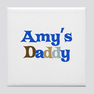Amy's Daddy Tile Coaster
