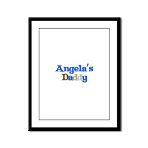 Angela's Daddy Framed Panel Print