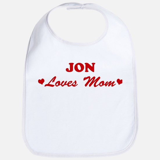 JON loves mom Bib