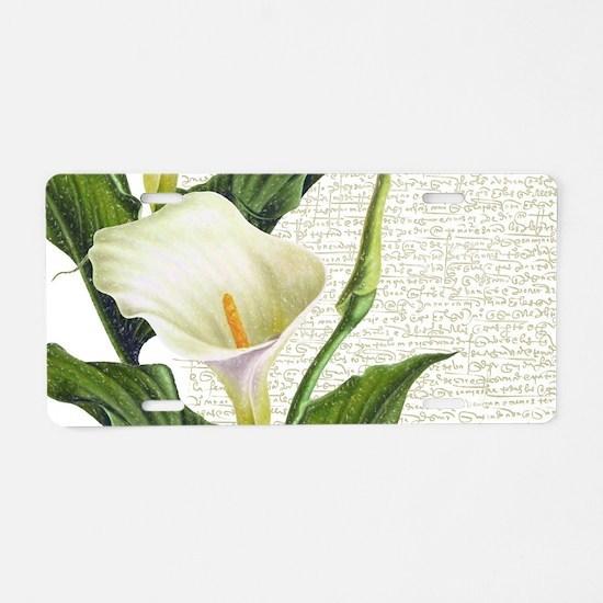 Beautiful Calla Lilies Aluminum License Plate