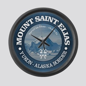 Mount Saint Elias Large Wall Clock