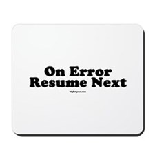 On Error Resume Next Mousepad