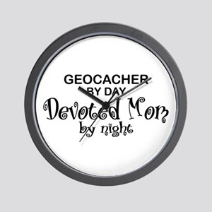 Geocacher Devoted Mom Wall Clock
