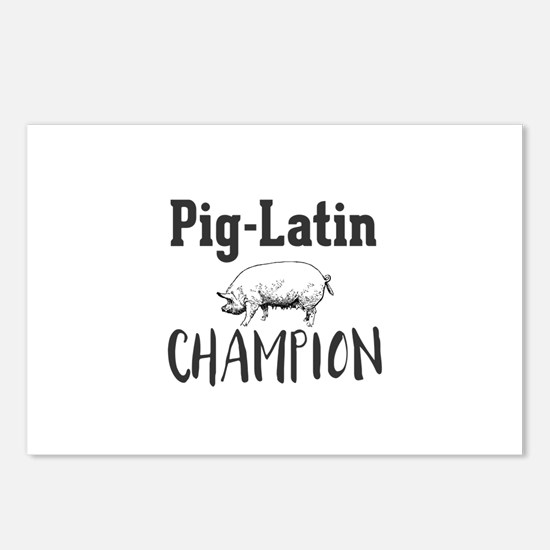Pig-Latin Champion Postcards (Package of 8)