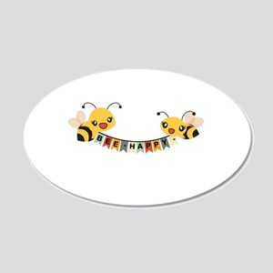 Custom Text Bees Bunting Banner Wall Decal