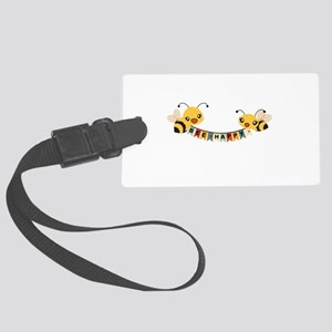 Custom Text Bees Bunting Banner Luggage Tag