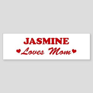 JASMINE loves mom Bumper Sticker