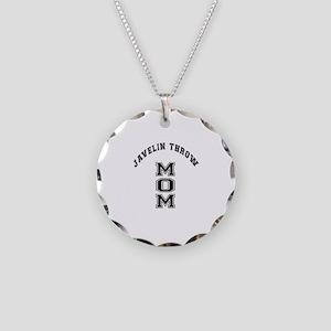 Javelin throw Mom Necklace Circle Charm