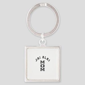 Jai Alai Mom Square Keychain