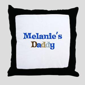 Melanie's Daddy Throw Pillow