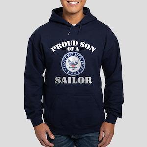 Proud Son Of A US Navy Sailor Hoodie (dark)