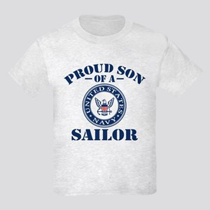 Proud Son Of A US Navy Sailor Kids Light T-Shirt