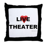 Live Theater Throw Pillow