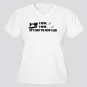 I Sew, I Sew Women's Plus Size V-Neck T-Shirt