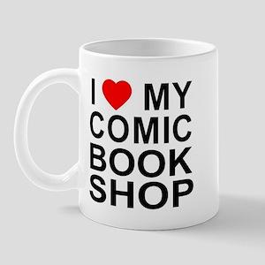 I Heart My Comic Book Shop Mug